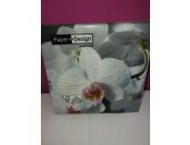 Orchideen-Servietten Phalaenopsis gestreift