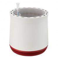 AIRY Pot M (weiss-rot) inkl. zwei Beutel AIRY Base Substrat, Wassertank & Wasserstandsanzeiger