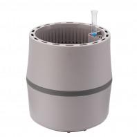 AIRY Pot S (grau-anthrazit) inkl. einem Beutel AIRY Base Substrat, Wassertank & Wasserstandsanzeiger