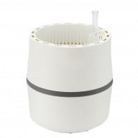 AIRY Pot S (weiss-anthrazit) inkl. einem Beutel AIRY Base Substrat, Wassertank & Wasserstandsanzeiger
