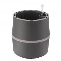 AIRY Pot S (anthrazit-grau) inkl. einem Beutel AIRY Base Substrat, Wassertank & Wasserstandsanzeiger