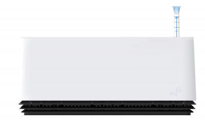 AIRY Box 50 cm, Cover: Snow White Base: Black Jack