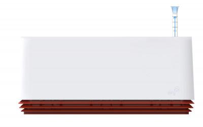 AIRY Box 50 cm, Cover: Snow White Base: Hot Chili