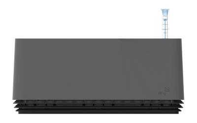 AIRY Box 50 cm, Cover: Stone Grey Base: Black Jack