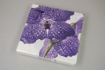 Orchideen-Servietten (Vanda, blau)