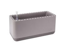 AIRY Pot L (grau) inkl. drei Beutel AIRY Base Substrat, Wassertank & Wasserstandsanzeiger
