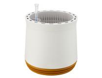 AIRY Pot M (weiss-gold) inkl. zwei Beutel AIRY Base Substrat, Wassertank & Wasserstandsanzeiger