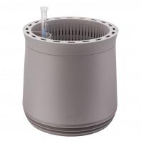 AIRY Pot M (grau) inkl. zwei Beutel AIRY Base Substrat, Wassertank & Wasserstandsanzeiger