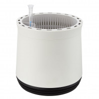 AIRY Pot M (weiss-schwarz) inkl. zwei Beutel AIRY Base Substrat, Wassertank & Wasserstandsanzeiger