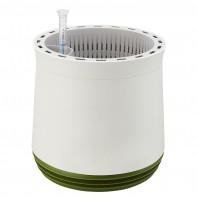 AIRY Pot M (weiss-grün) inkl. zwei Beutel AIRY Base Substrat, Wassertank & Wasserstandsanzeiger