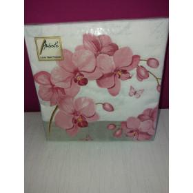 Orchideen-Servietten (Phalaenopsis, pink)