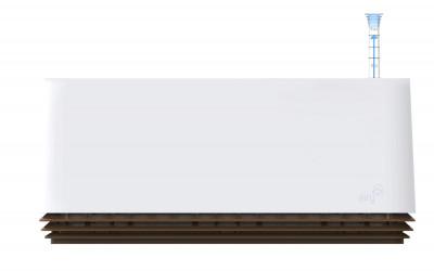 AIRY Box 50 cm, Cover: Snow White Base: Cappucino