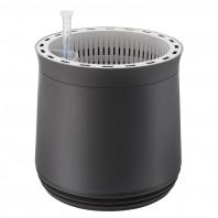 AIRY Pot M (anthrazit) inkl. zwei Beutel AIRY Base Substrat, Wassertank & Wasserstandsanzeiger