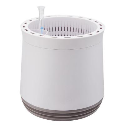AIRY Pot M (antikweiss - grau) inkl. zwei Beutel AIRY Base Substrat, Wassertank & Wasserstandsanzeiger