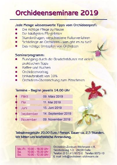 Orchideen-Seminare 2019