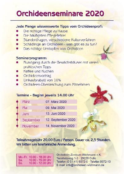 Orchideen-Seminare 2020